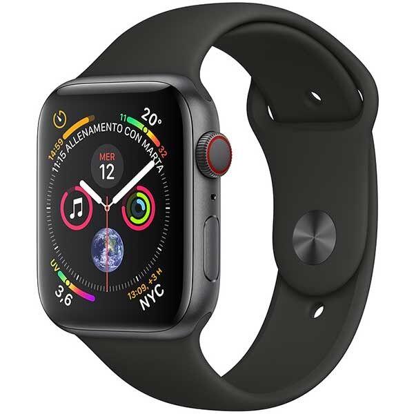 Apple Watch Series 4 Gps + Cellular Cassa In Alluminio Grigio Siderale Con Cinturino Sport Nero (40 Mm)