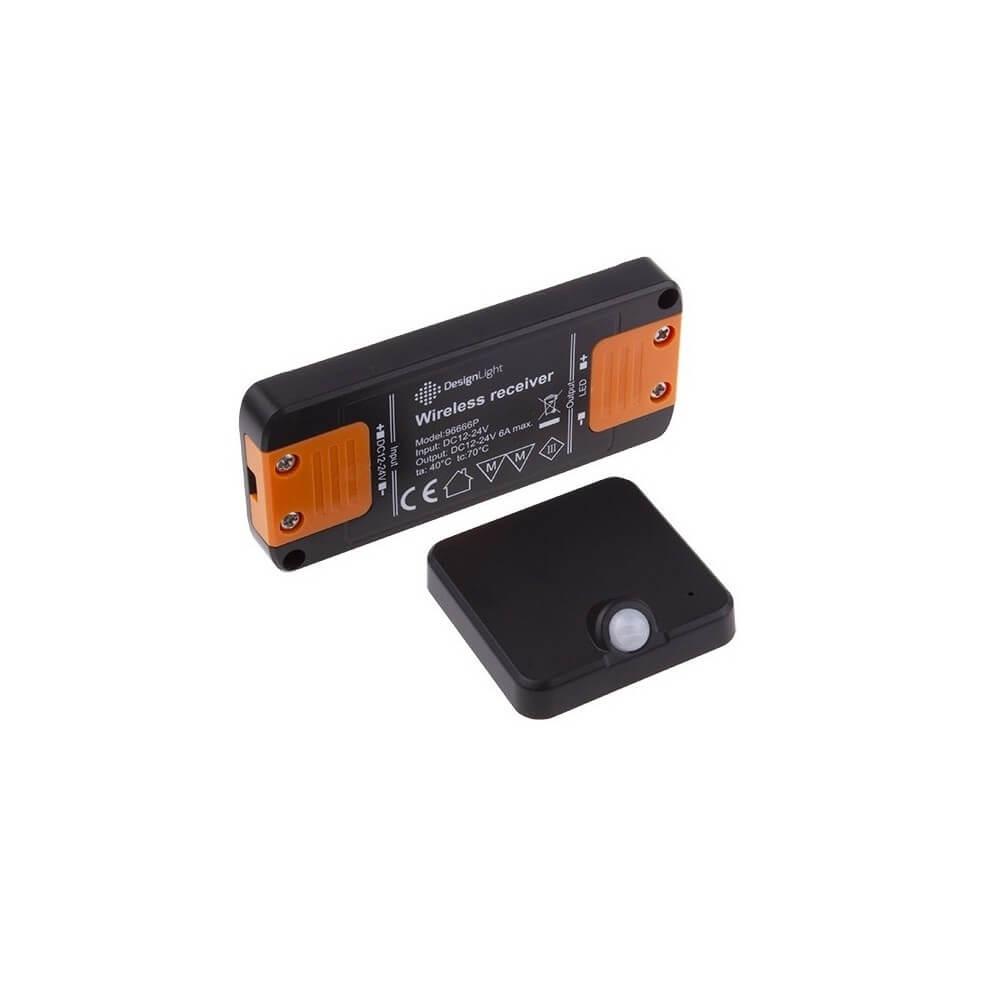 designlight sensore di movimento senza cavo - ideale per armadi - nero