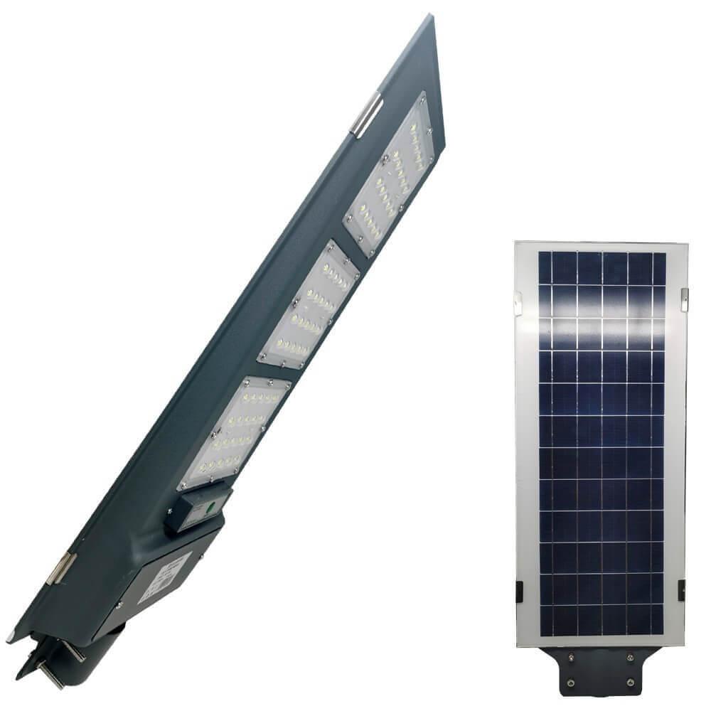 factorled armatura stradale solare led 60w, luce minima + sensore di movimento
