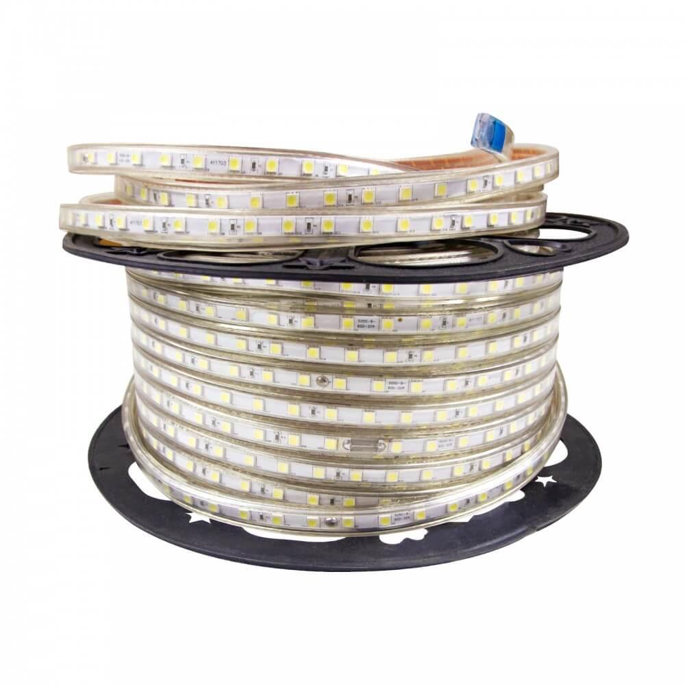 leddiretto striscia led rosso 220v ip67 per esterni ed interni bobina da 25 metri