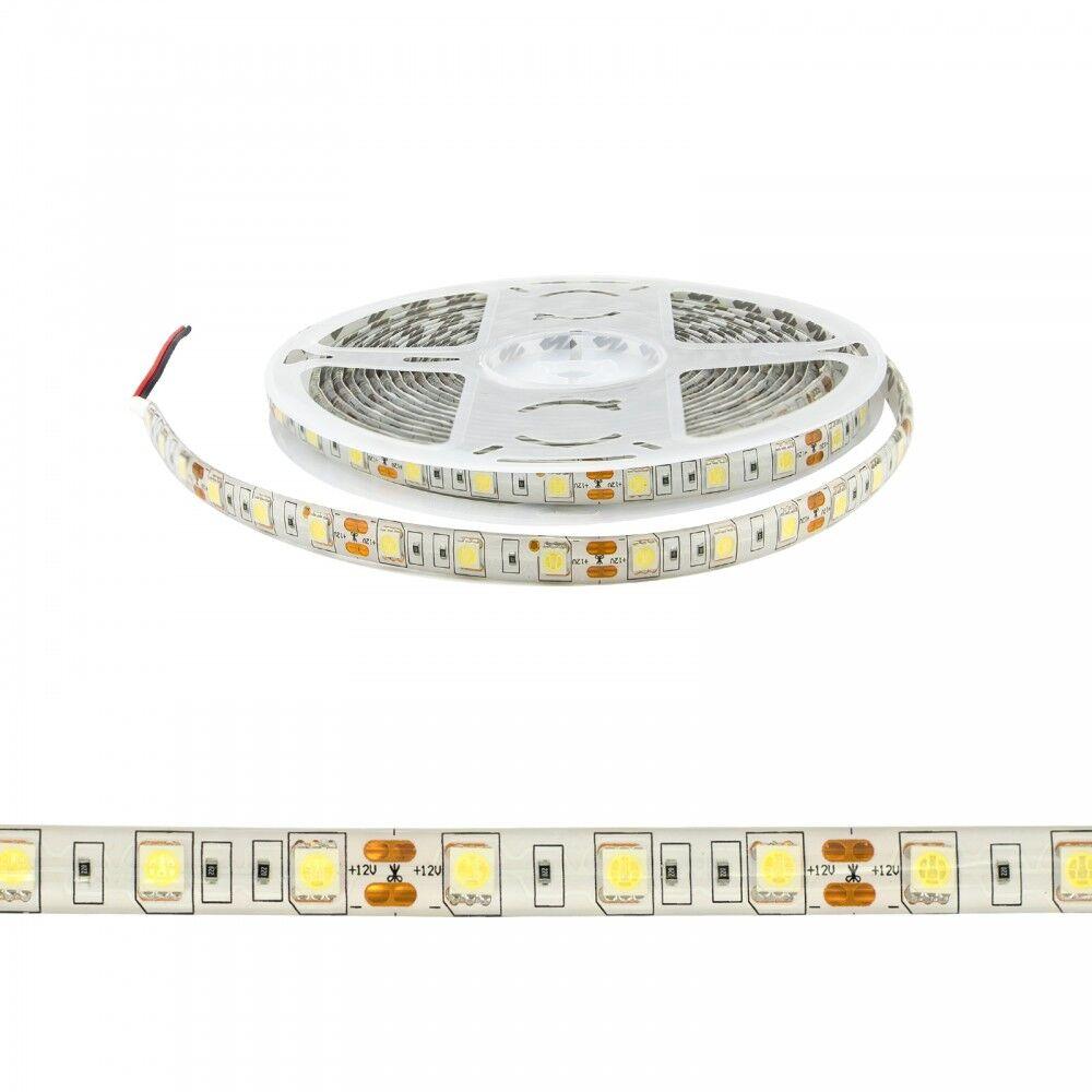 leddiretto striscia led 5050/60 - ip65 - 14,4w/m - 5m - 12v