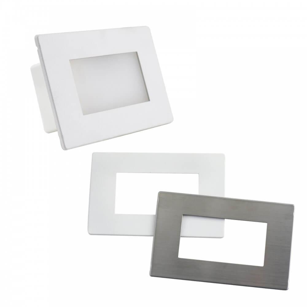 LEDDIRETTO Segnapasso LED con SENSORE per scatola 503 da 3,5W - doppio frontalino