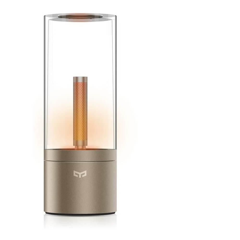 yeelight lampada da tavolo a candela, tecnologia ble dimmerabile, bluetooth, a batteria con ricarica usb yeeligght ylfw01yl