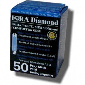 Meter srl Fora Diamond 50 Strisce reattive per test della glicemia