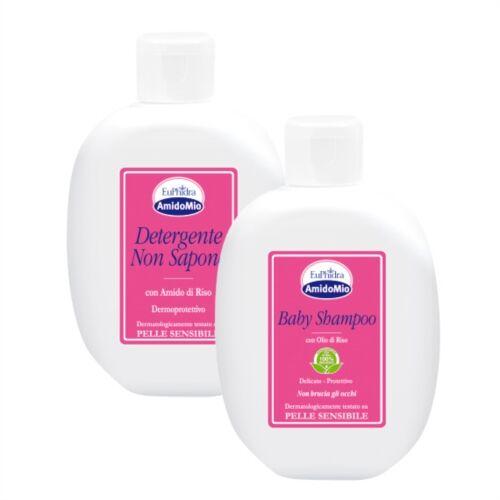 Amidomio cofanetti EuPhidra Linea AmidoMio Detergente Non Sapone + Baby Shampoo