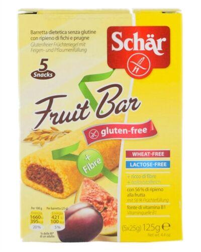 Schar Linea Dolci e Biscotti Fruit Bar 5 Barrette con Frutta e Fibre da 25 g