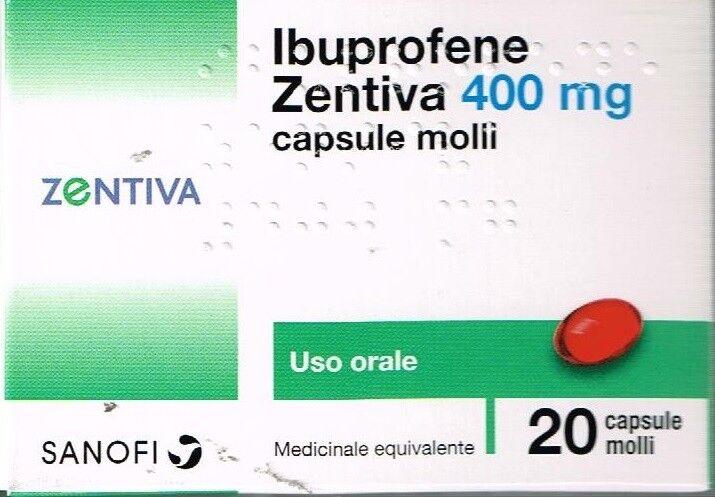 Zentiva Italia Srl Ibuprofene Zen 400Mg Capsule Molli, 20 Capsule In Blister Pvc/Pvdc/Al