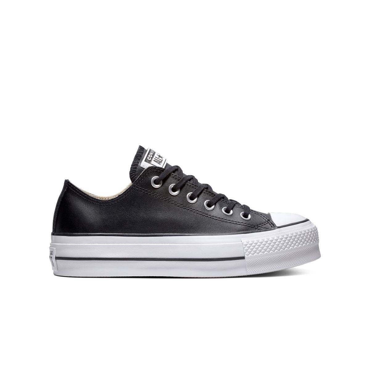 Converse Chuck Taylor All Star Lift Leather Nera - 39.5 - Donna
