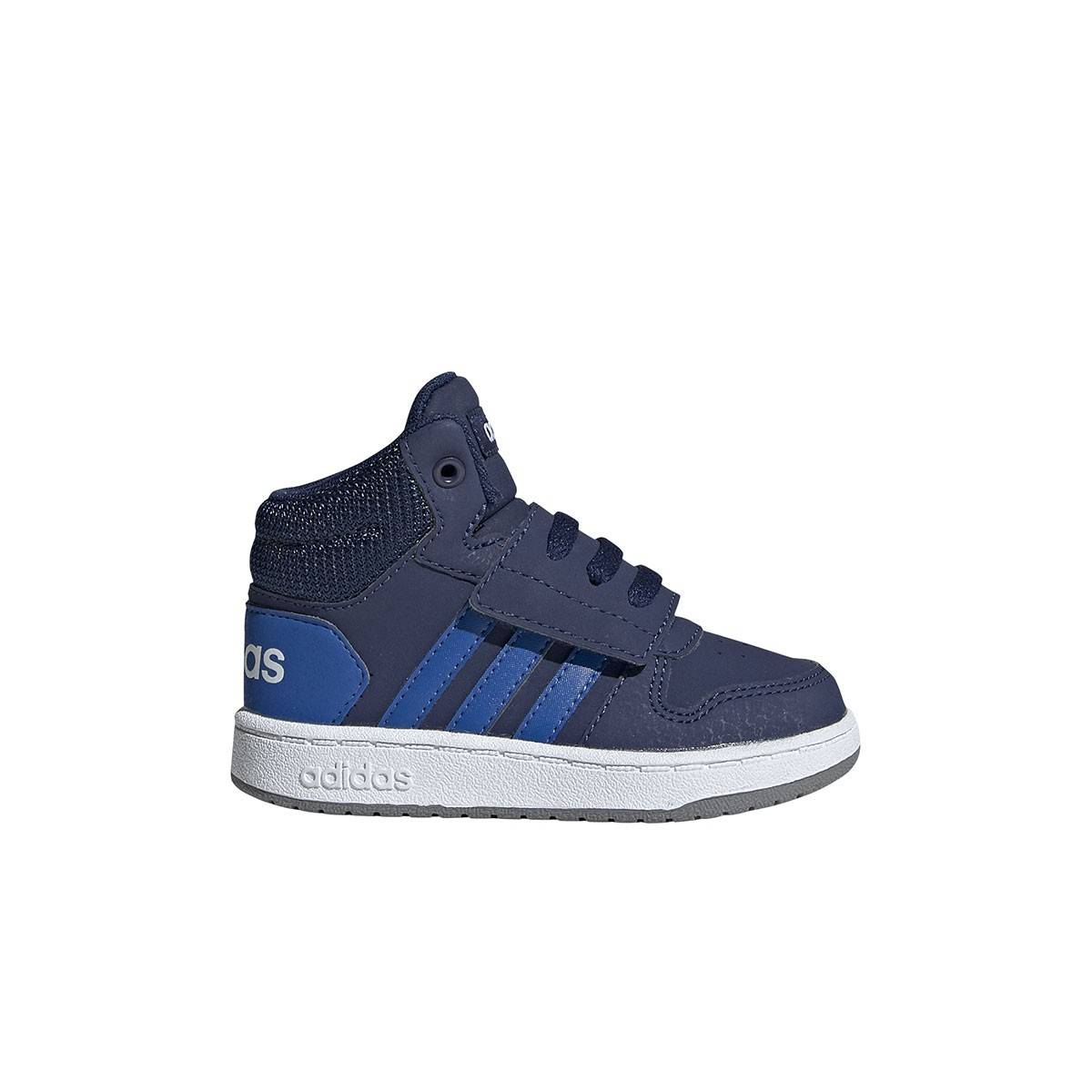 Adidas Infant Hoops Mid 2.0 Blue Cloud White