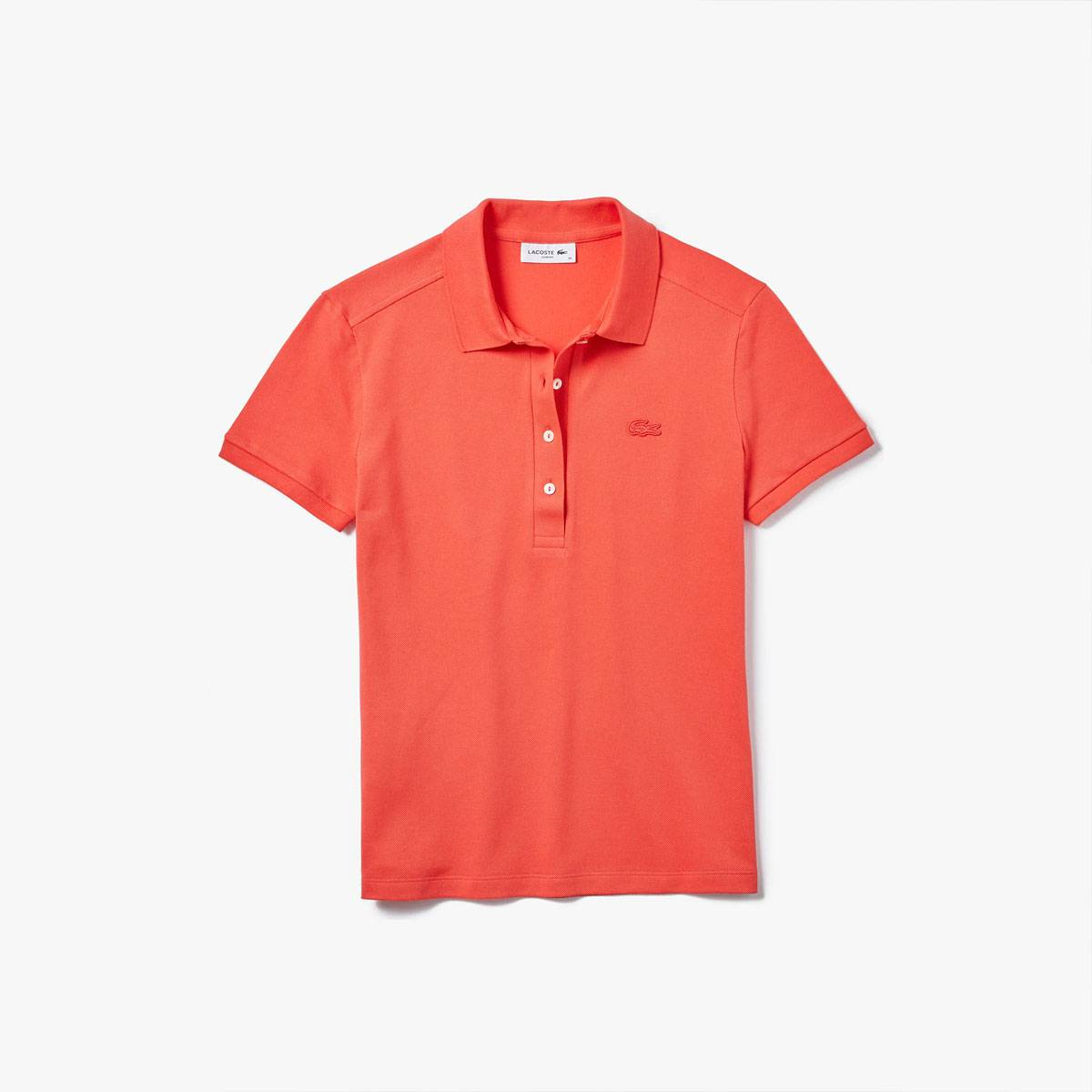 Lacoste Polo Donna in Cotone Stretch Rosso 4BY - 42 - Donna