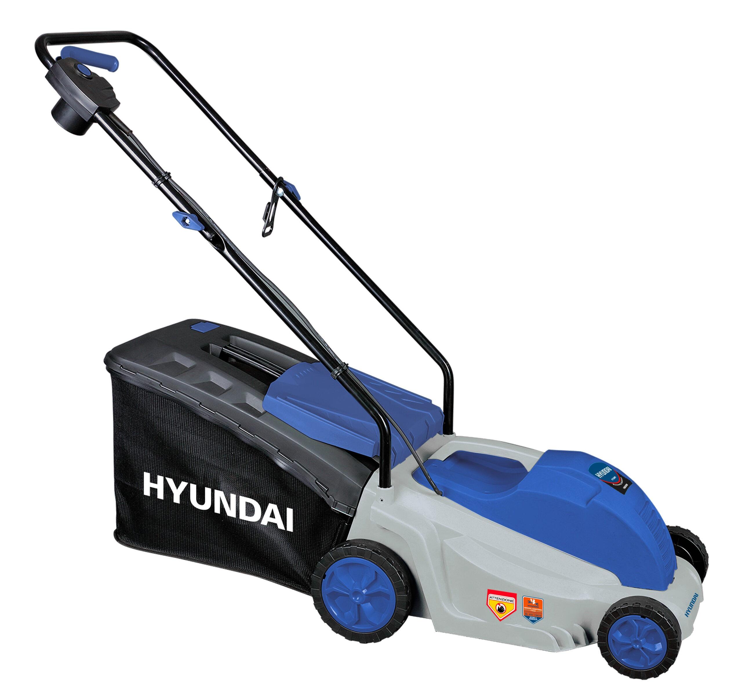 hyundai tagliaerba elettrico 36cm da 1600w hyundai 65460