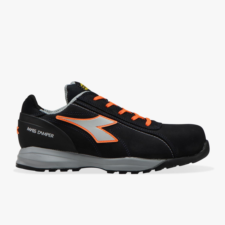 diadora scarpe antinfortunistiche diadora glove mds low s3 hro src - blu scuro/arancio fluo