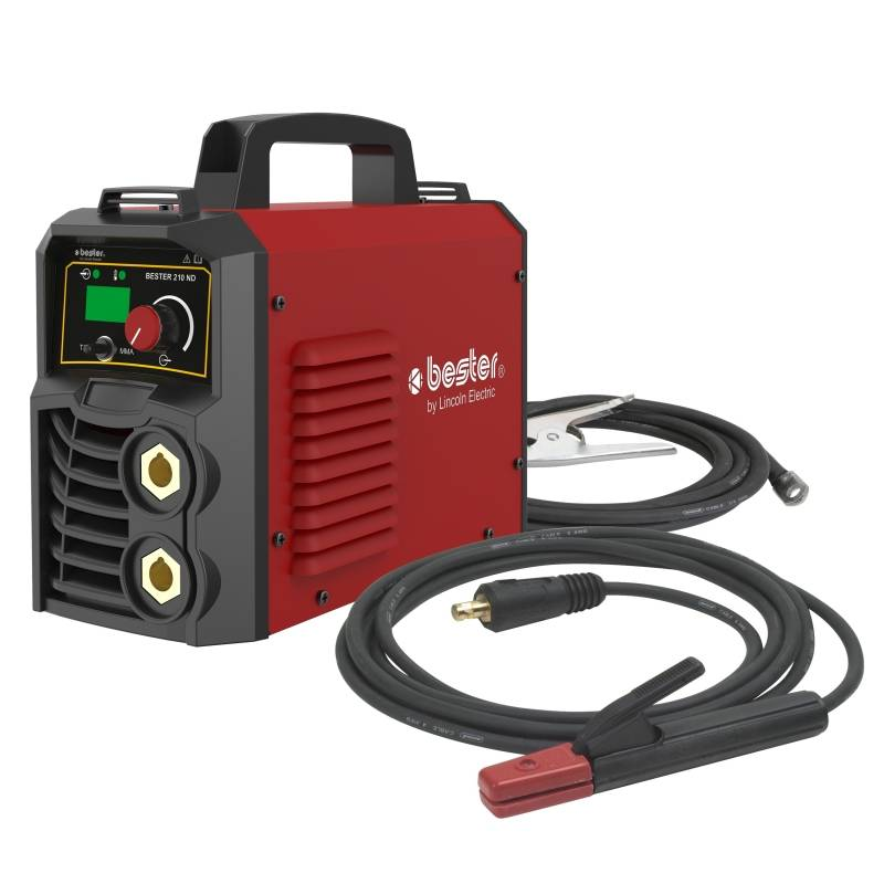 lincoln electric saldatrice inverter mma lincoln electric bester 155-nd con kit