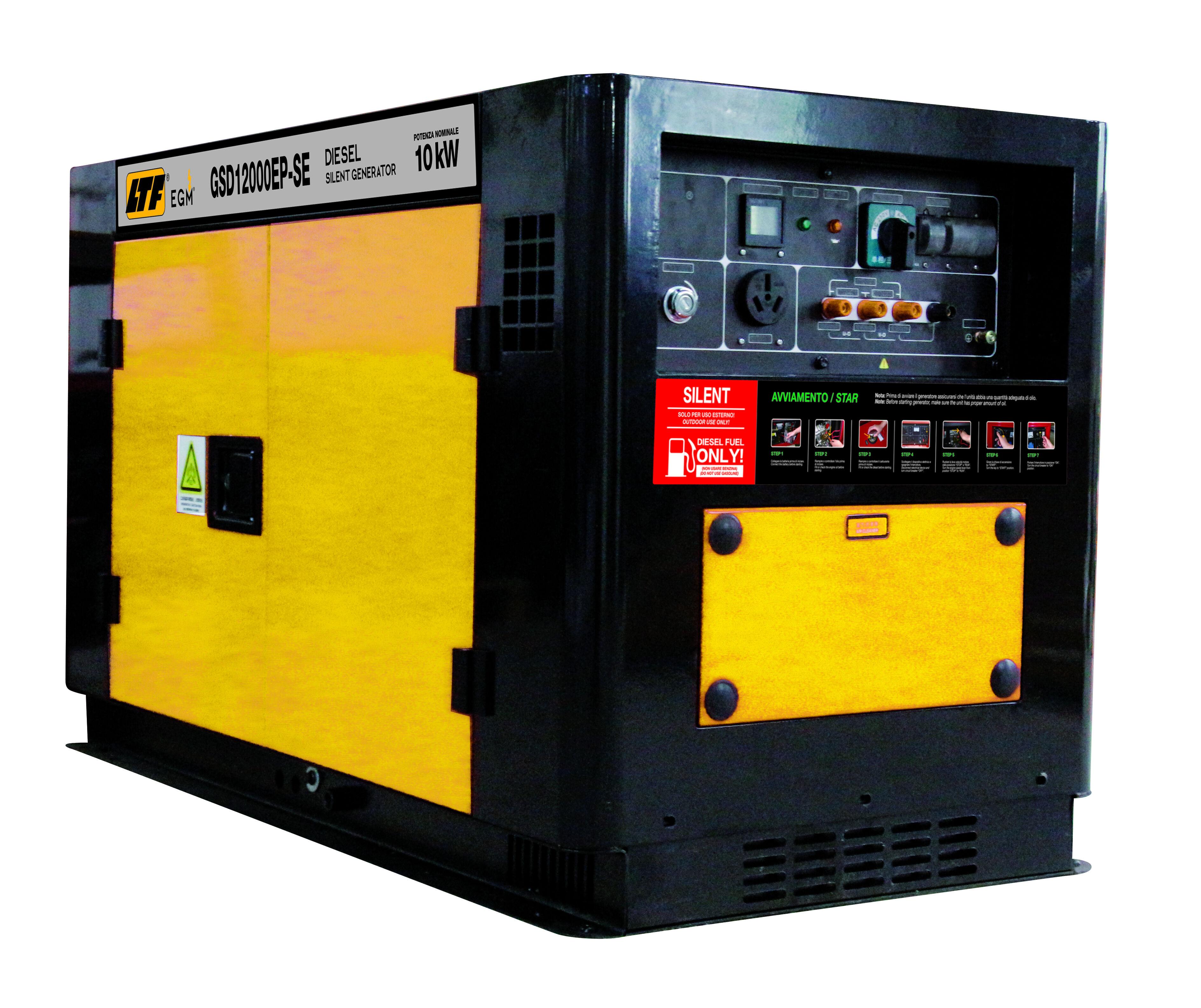 ltf generatore di corrente diesel silenziato gsd12000ep-se ltf