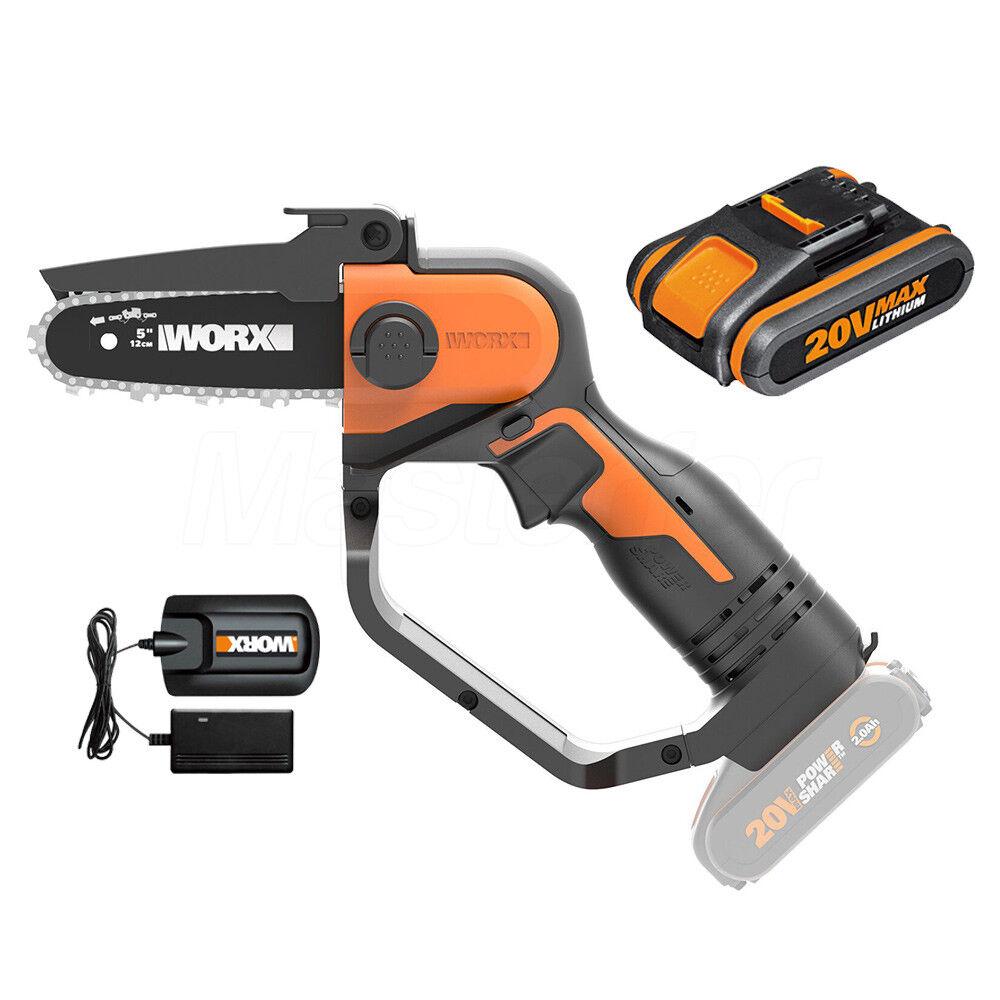 worx potatore a catena a batteria 20v da 2.0 ah worx wg324e