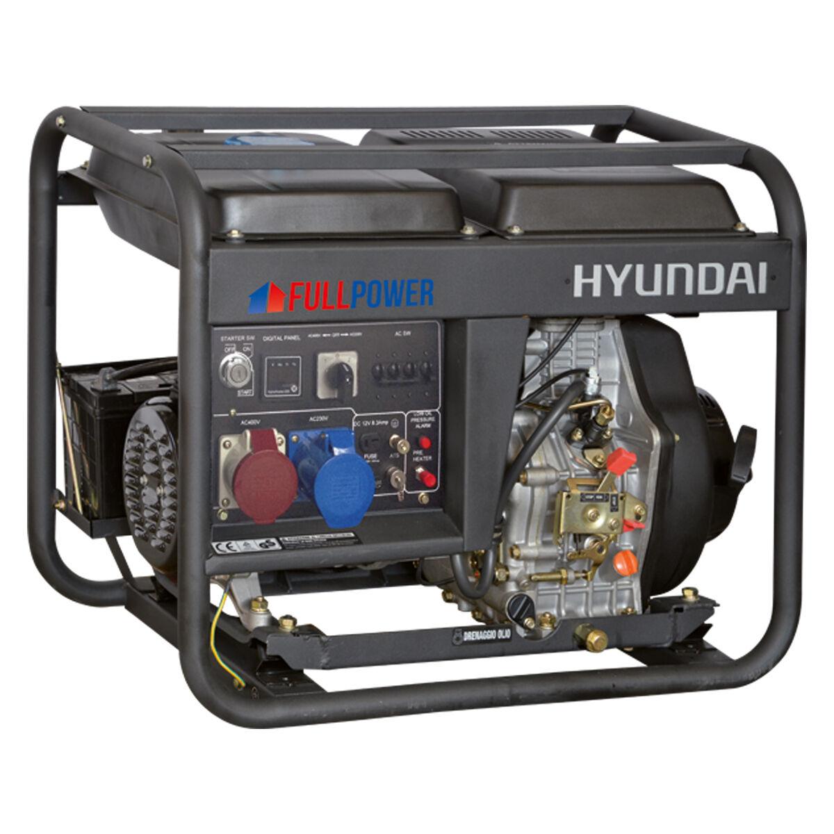 hyundai generatore di corrente hyundai 65213 dhy8500let con avr