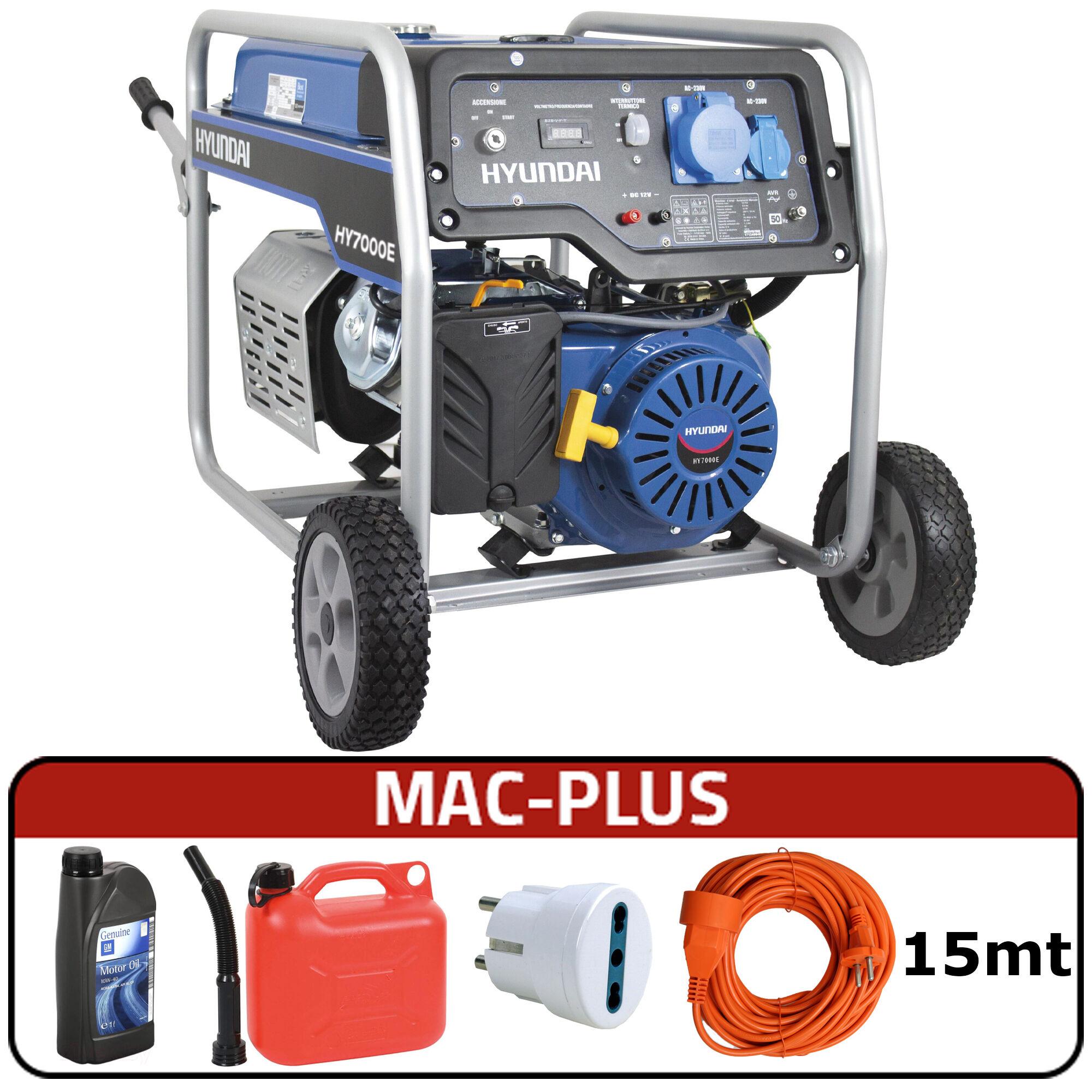 hyundai generatore di corrente hyundai 65017 hy7000e con avr + mac-plus