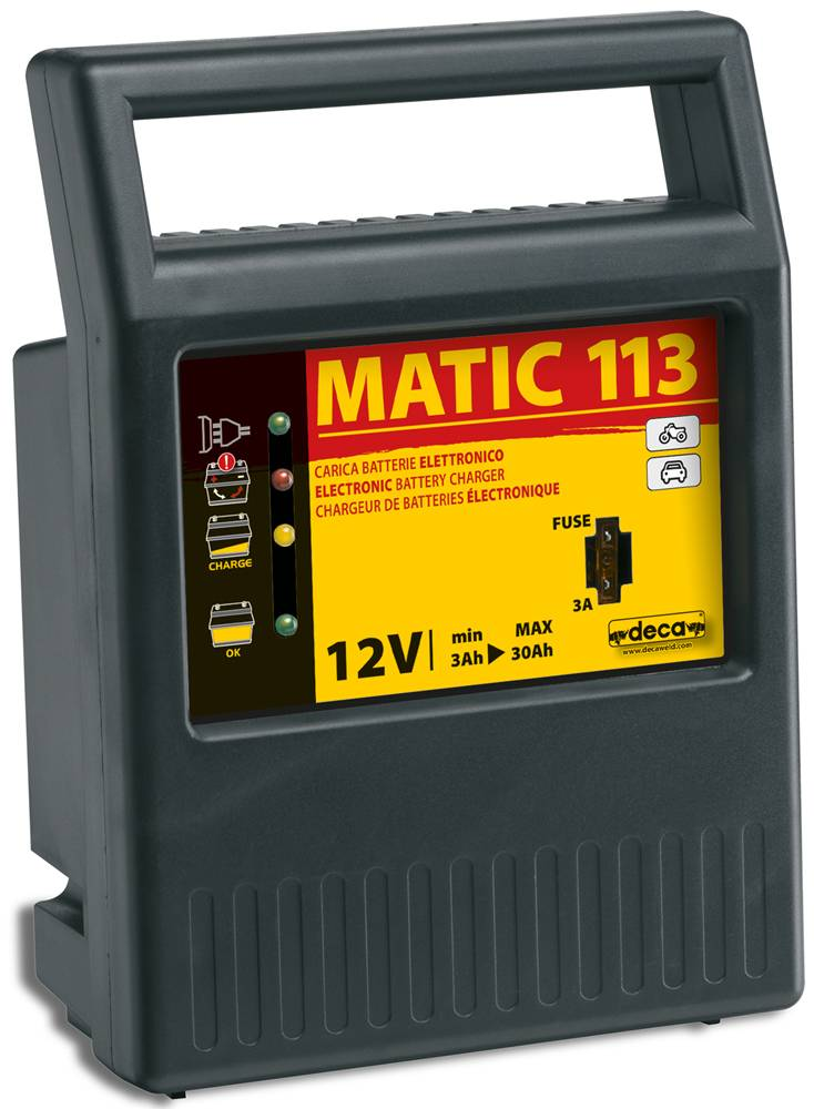 deca caricabatterie mantenitore automatico 12v deca matic 113