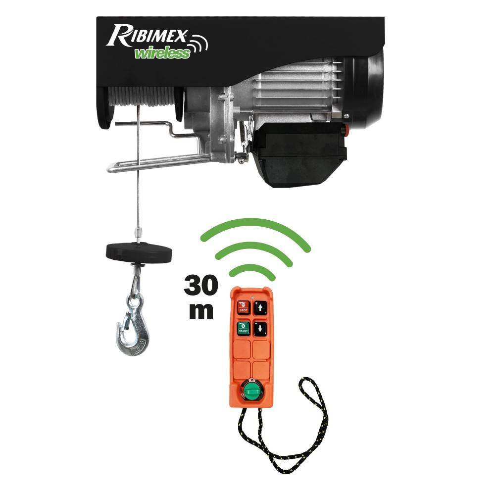 Ribimex Paranco elettrico telecomandato Ribimex PE400/800T
