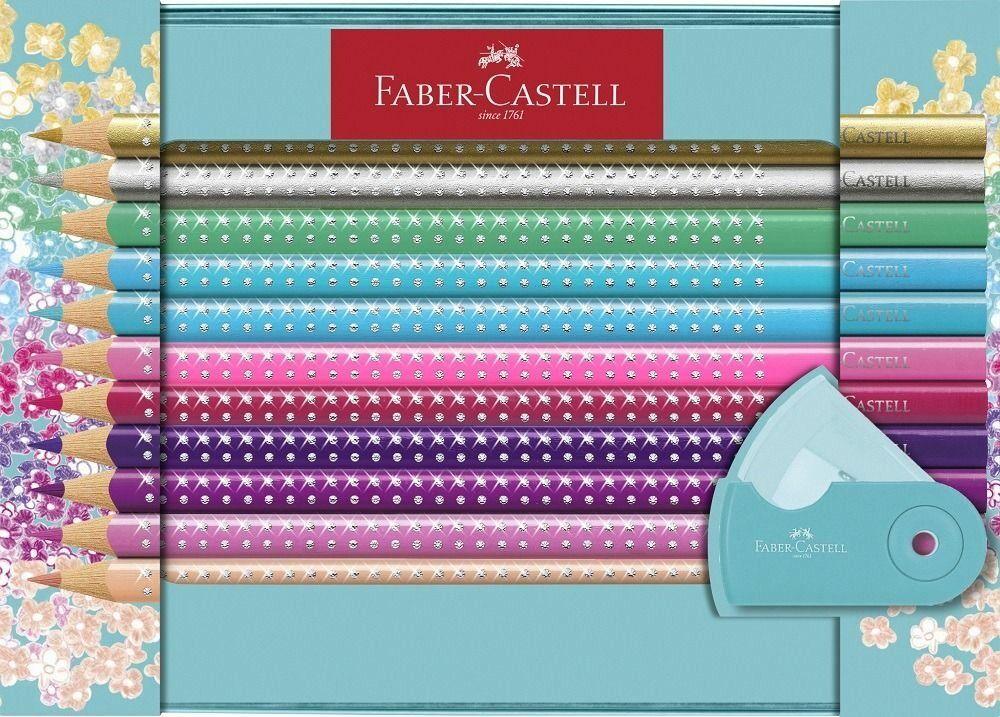 faber-castell matite colorate  sparkle. set 20 colori + temperamnatite