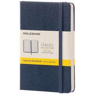 Moleskine Taccuino  pocket a quadretti copertina rigida blu. Sapph...
