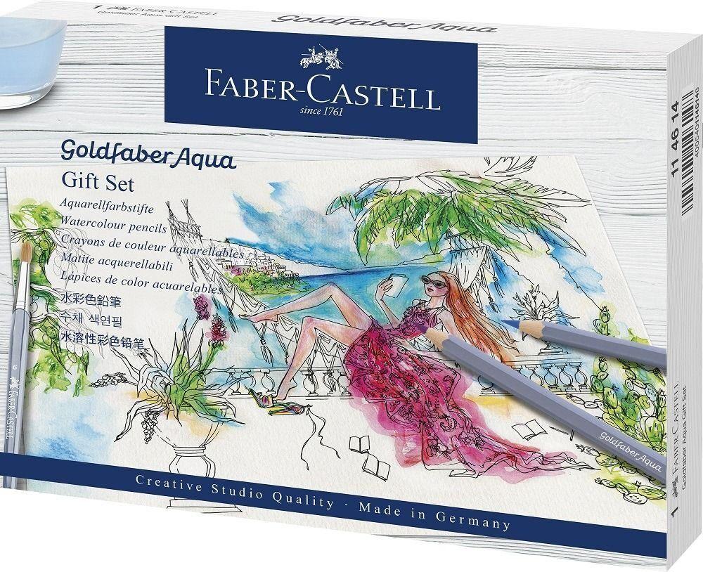 faber-castell matite colorate acquerellabili  aqua. gift set