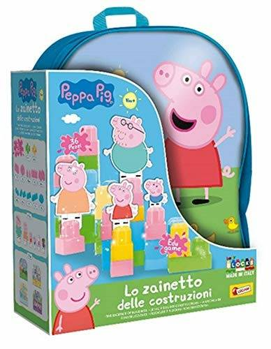lisciani peppa pig zainetto costruzioni baby 36 pcs