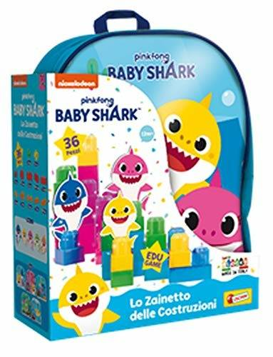 lisciani baby shark zainetto costruzioni baby 36 pcs