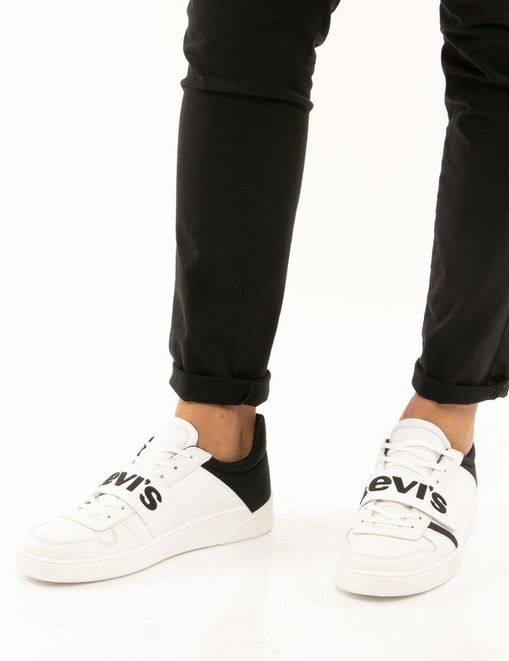 levis scarpa levi's con logo centrale bianco