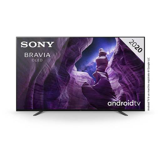sony kd65a8, smart android tv oled 65'' triluminus, 4k hdr, processore