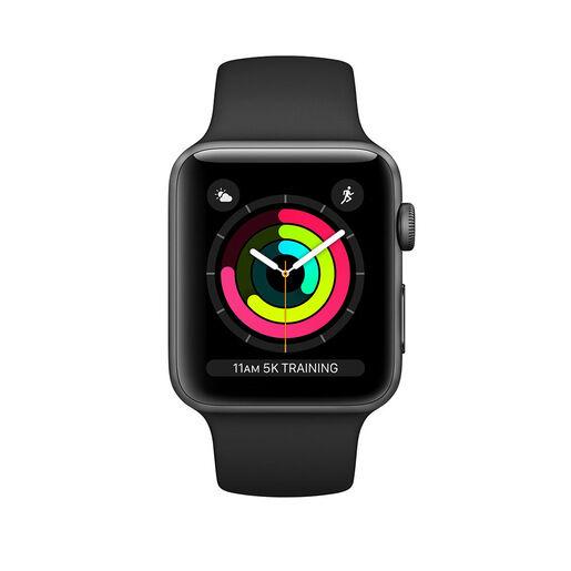 Apple Watch Series 3 GPS, 38mm in alluminio grigio siderale con cintur