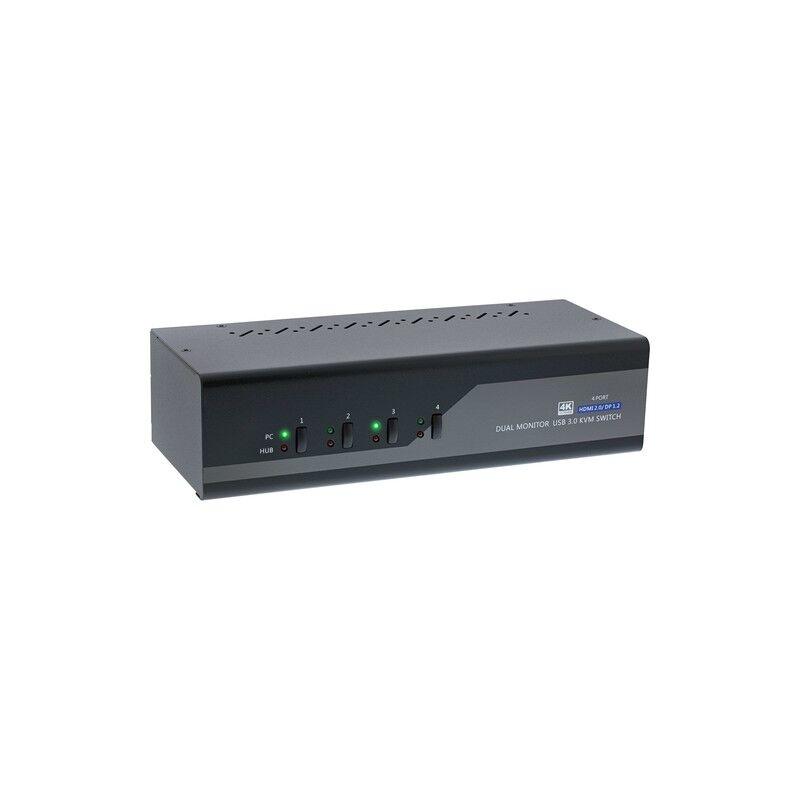 inline 62644i switch per keyboard-video-mouse (kvm) nero, grigio