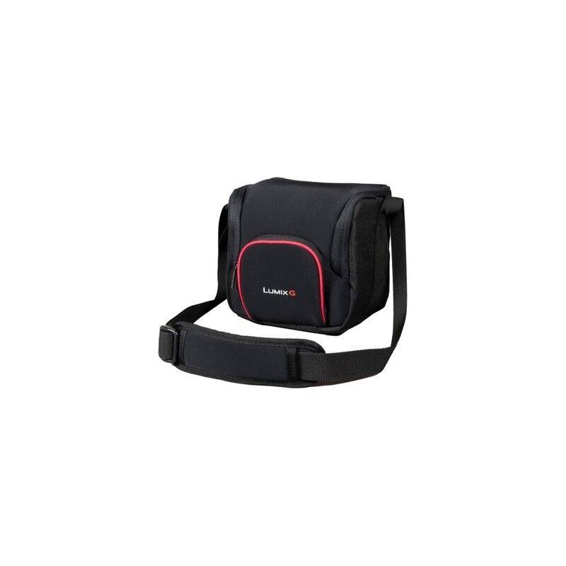 panasonic dmw-pgh68 borsa da spalla nero, rosso (dmw-pgh68x)