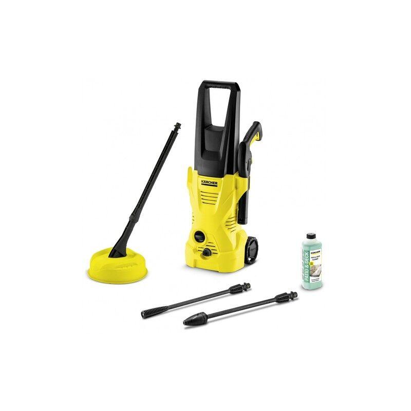 kaercher kärcher k 2 home idropulitrice verticale elettrico 360 l/h 1400 w nero, giallo