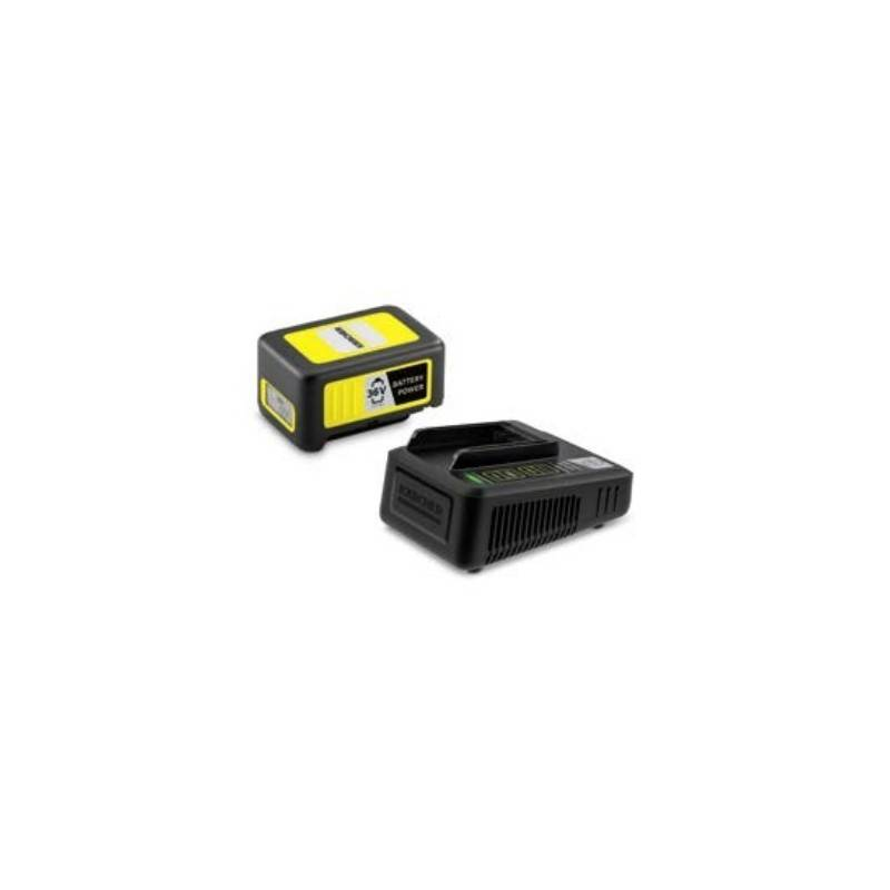 kärcher power 36/25 a cilindro set batteria e caricabatterie
