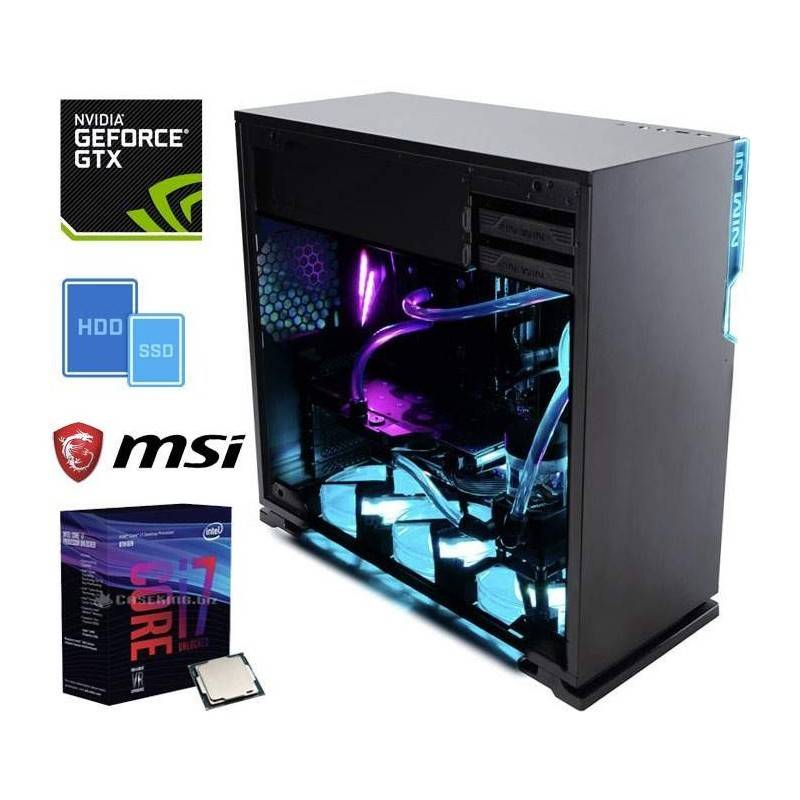 hwonline pc gaming home gtx intel core i7-8700k 3.7ghz/12mb(6core)+16gb+(2.25tb)m.2 250 ssd+2.0tb+geforce gtx1060/3gb+z370 msi