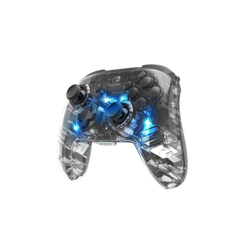 pdp afterglow nero, trasparente gamepad nintendo switch