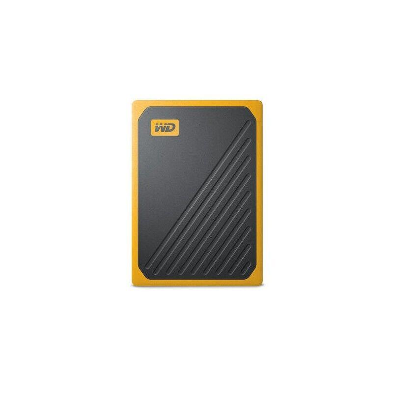 western digital my passport go 500 gb nero, giallo