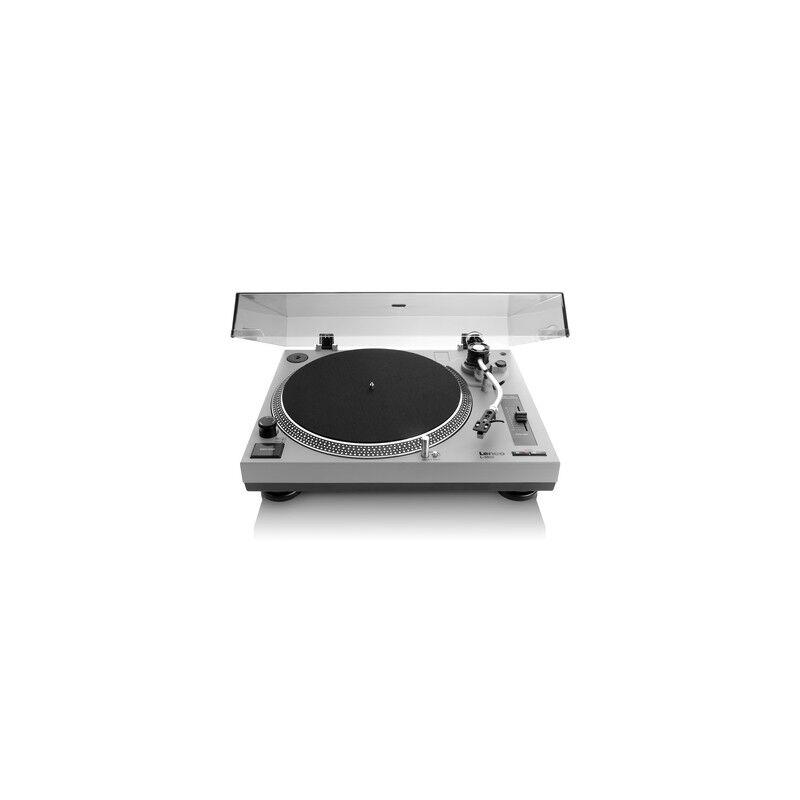 lenco l-3808 giradischi a trasmissione diretta nero, grigio