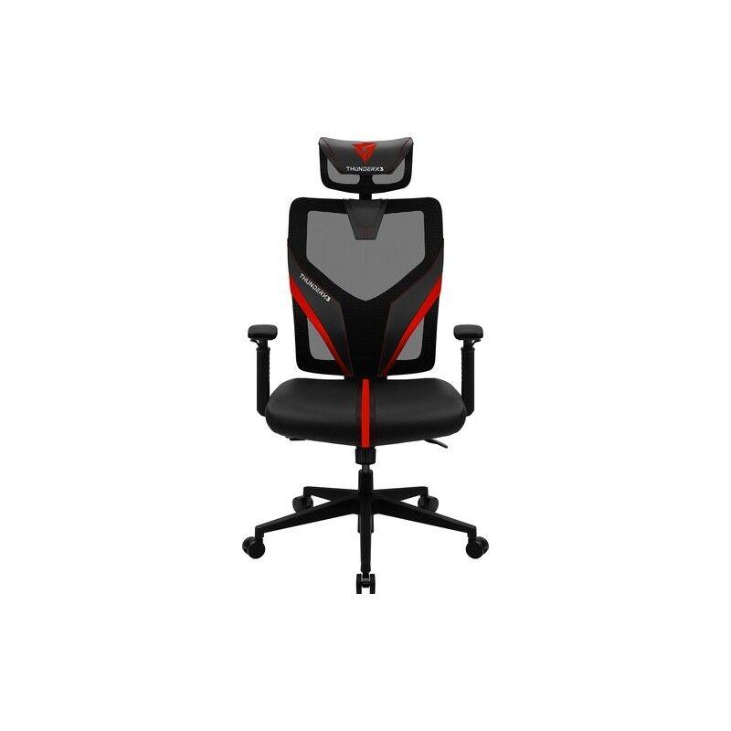 thunderx3 yama1 sedia per gaming universale nero, rosso