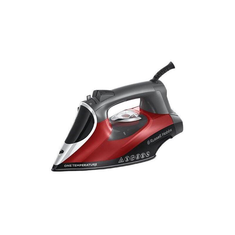 russell hobbs 25090-56 ferro da stiro ferro da stiro a secco e a vapore ceramica 2600 w nero, grigio, rosso