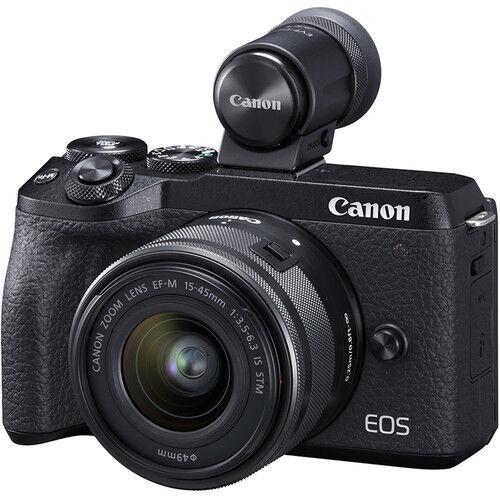 Canon Eos M6 Mark Ii + Ef-M 15-45mm Is Stm + Evf Dc2 - Nera - 2 Anni Di Garanzia In Italia