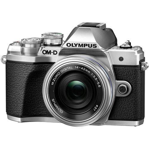 Olympus Om-D E-M10 Mark Iii + 14-42mm F/3.5-5.6 Ed Ez - Argento - 4 Anni Di Garanzia