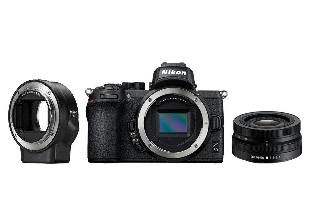 Nikon Z50 + Z 16-50mm Vr + Ftz - 2 Anni Di Garanzia In Italia