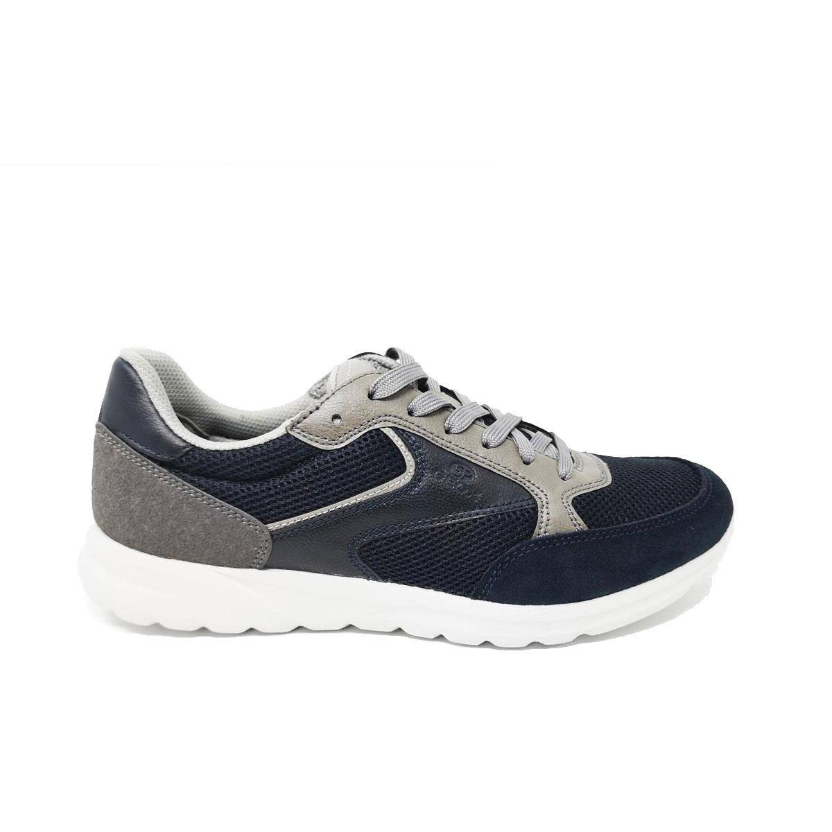 Geox Scarpa Uomo In Tela Navy/anthracite Navy
