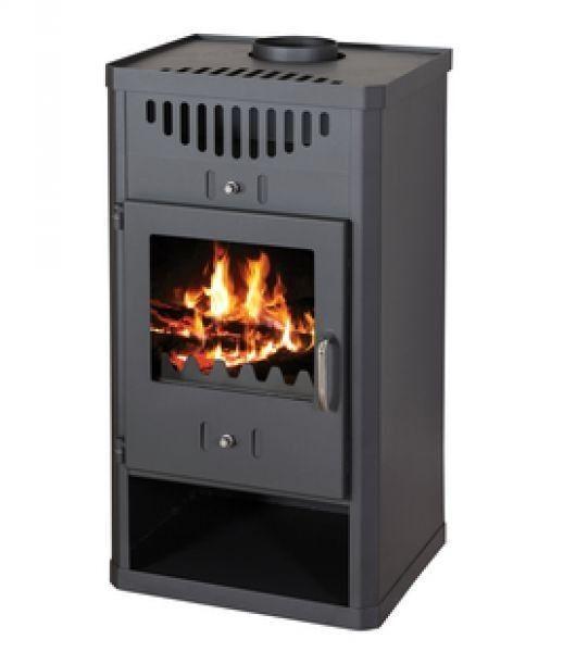 stufa a legna modello elegant 11/16 kw nero antracite cod.93396