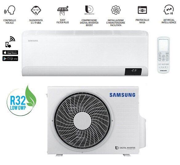 Samsung Climatizzatore Condizionatore Monosplit Samsung Cebu F-Ar09cbu Da 9000 Btu Ar09txfyawk Con Gas R32 Wifi In A++/a+