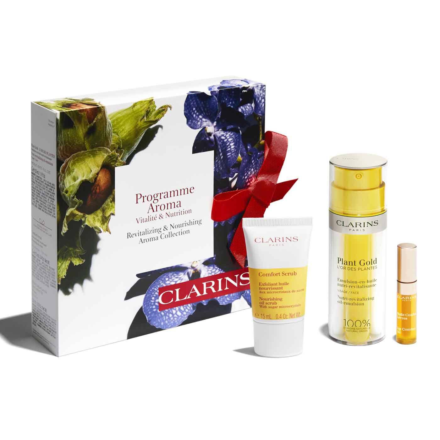 clarins revitalizing & nourishing aroma collection