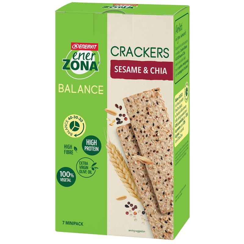 Enerzona Crackers Sesamo&chia 175g