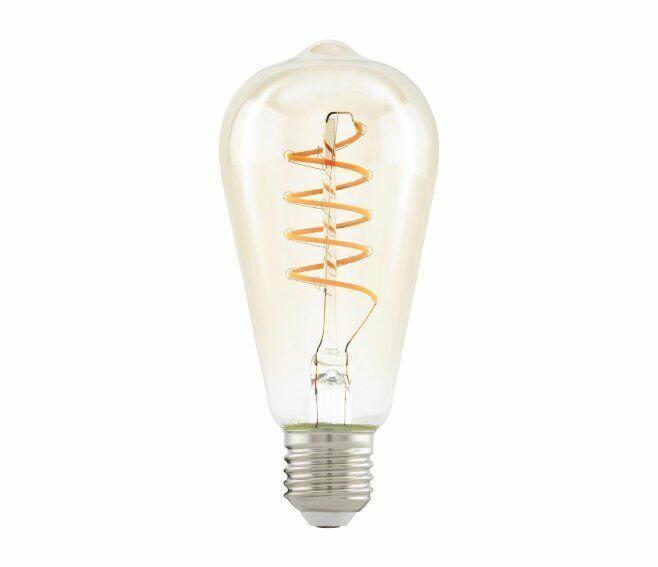 eglo lampadina pera vintage e27 led 4w 2200k 260lm